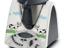 STICKER AUTOCOLLANT DECORATIF CARTOON VACHES POUR VORWERCK THERMOMIX TM31