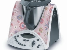 STICKER AUTOCOLLANT DECORATIF PINK FLOWERS POUR VORWERCK THERMOMIX TM31