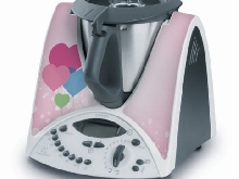 STICKER AUTOCOLLANT DECORATIF PINK LOVE POUR VORWERCK THERMOMIX TM31