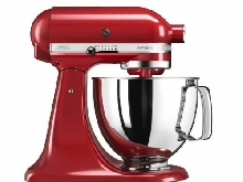 KitchenAid - 300W 4.8L Red food processor - 5KSM125EER - [Rouge Empire] NEUF