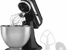 KitchenAid 5K45SSEOB Stand mixer 275W Black, Metallic mixer - mixers (Stand mixe