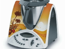STICKER AUTOCOLLANT DECORATIF PARADIS TROPICAL POUR VORWERCK THERMOMIX TM31