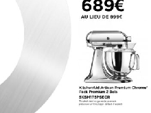 Vente France ?? KitchenAid Série Spéciale Chrome 5KSM175PSECR | Pack 2 Bols