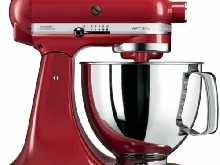 KITCHENAID Robot Patissier Multifonctions 300W Rouge Bol 4.8L  10 Vitesses Tête