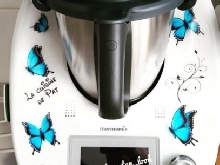 Stickers Thermomix Papillons Bleu Tm31 Tm5 Tm6