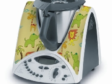 STICKER AUTOCOLLANT DECORATIF CHILDREN JUNGLE POUR VORWERCK THERMOMIX TM31