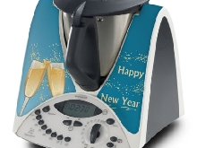 STICKER AUTOCOLLANT DECORATIF CHAMPAGNE POUR VORWERCK THERMOMIX TM31