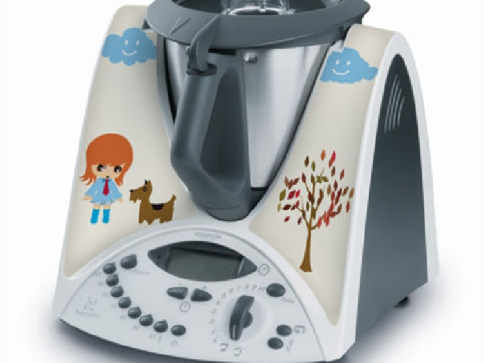 STICKER AUTOCOLLANT DECORATIF DESSIN ANIME POUR VORWERCK THERMOMIX TM31