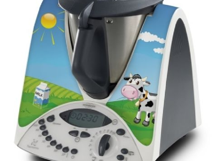 STICKER AUTOCOLLANT DECORATIF MILK COW POUR VORWERCK THERMOMIX TM31