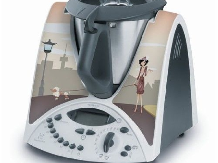STICKER AUTOCOLLANT DECORATIF SO CHIC MILADY POUR VORWERCK THERMOMIX TM31