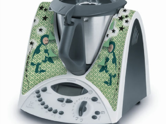 STICKER AUTOCOLLANT DECORATIF GREEN MEN POUR VORWERCK THERMOMIX TM31