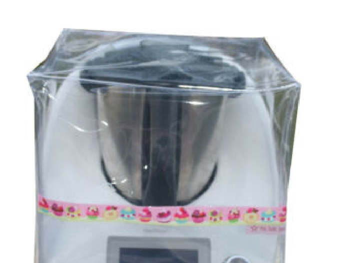 HOUSSE DE PROTECTION THERMOMIX TM5-TM6 Sans Varoma Transparente Biais Gateaux