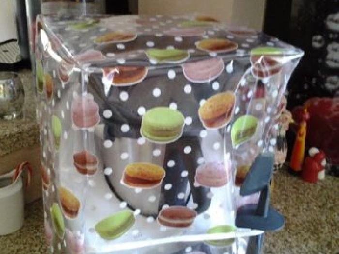 housse de protection pour thermomix avec varoma mod le macarons momix annonce. Black Bedroom Furniture Sets. Home Design Ideas